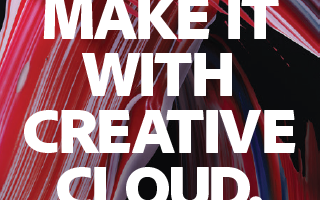 Adobe Make It With Creative Cloud postcard
